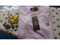 Men's pale lilac Lyle& Scott tshirt, size S, New with tags