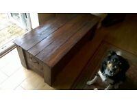4ft oak ottoman