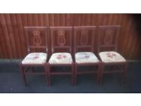 dining chairs harp back