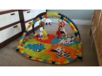 Bright Starts spots and stripes safari gym new born baby playmat