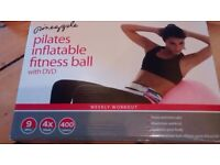 Pineapple Pilates Inflatable Fitness Toning Ball With Dvd NEW