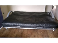 Last chance: Foldable SOFA real LEATHER