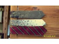 Collection of Vintage Silk & Polyester Ties of Various Widths 200 to choose from