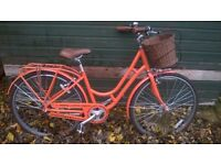 Raleigh Spirit, Classic Bike, Ladies, Orange, like new