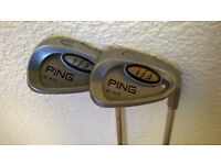 PING i3 WEDGE SET, WHITE DOT, U & L WEDGES R/H STIFF SHAFTS