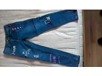 girls jeans size 8 to 9 years