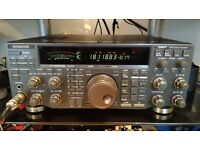 KENWOOD TS870 DSP HF Transceiver with matching SP-31 speaker.