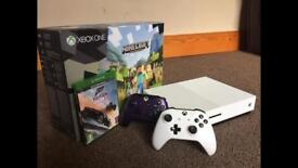Xbox One S 500GB Two Controllers One Game