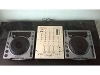 Pair of PIONEER CDJ800s and VESTAX PMC 270 3 channel mixer