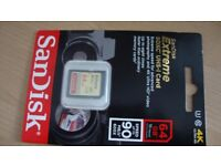 New SanDisk Extreme 64GB, Class 10 (90MB/s)