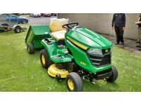New John Deere X350R Ride On Tractor Lawnmower - Pay Off Over Time!