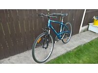 29er hybrid mountain bike road cycle front suspension lightweight alloy