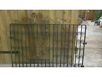 wrought iron driveway gates and fence