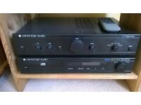 Stereo system. Cambridge Audio CD player and Amplifier plus Speakers.
