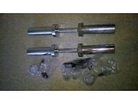 Olympic dumbbell bars heavy duty with new collars