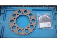 HONDA CBR600 FX FX CBR 600 1999 - 2000 F4 RENTHAL FRONT SPROCKET & REAR 520 RACING SPROCKETS
