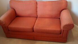 2-3 Seat Orange sofa