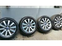 Four Genuine Ford alloy wheels and tyres fit transit connect focus mondeo s max c max 3693