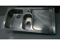 Franke stainless kitchen sink with In-sink-erator 50-4 waste disposal unit central London bargain