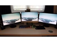 *3 Full HD 1080P 21.5 inch Computer Monitors For Sale* (Or For Individual Sale)