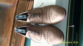 Beige Colour Brouge All Leather Shoe Size U.K. 7.5