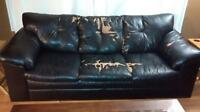 FREE- black pleather couch