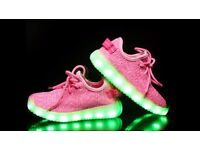 Bran new pink flashing trainers