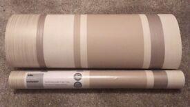 2 Rolls Wilko Natural Stripe Wallpaper
