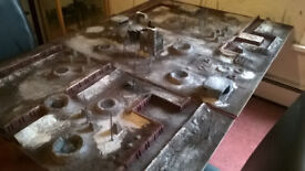 Warhammer 40k / Bolt Action Trench Themed Gaming Table