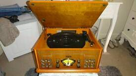 Record player + 75 records + tapes