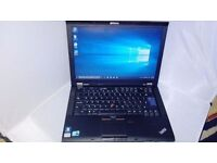 Lenovo thinkpad T410i-intel i3 processor,windows10,office,dvdrw,14inch screen,good battery,warranty