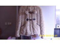 Ladies faux fur beige jacket