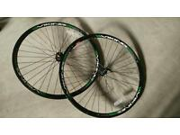 Pair of Viking road racing bike wheels