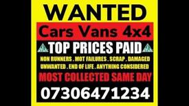 ♻️ SELL MY CAR VAN BIKE FOR CASH ANY CONDITION SCRAP WANTED FAST COLLECTION TODAY ENFIELD