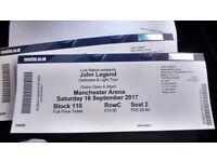 John Legend Tickets x2 for tonight-make an offer