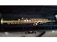 Saxophone Brand New Yanagisawa Soprano Comes With Locking Case and Strap Rico Reeds