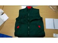 50 bottle green with red detail result bodywarmers job lot