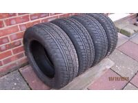 Avon Winter Tyres x 4 Fusion Ford 195/60 R15 - NEW