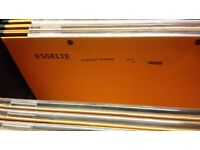 Esselte Uniscope foolscap orange suspension hanging files for filing cabinets - very good condition