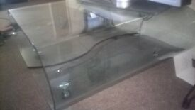Modern trendy glass table for sale