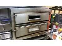 Double pizza oven (£1750 new) and shelved stand central London bargain