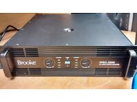 Brooke XPRO-3000 Power Amplifier 3000W Serviced In Perfect Working Order & In Excellent Condition.