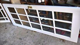 2 GLAZED WHITE INTERNAL PINE DOORS