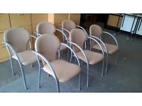 6 X STACKABLE CHAIR,HOME,OFFICE,MEETING,RECEPTION,WAITING ROOM