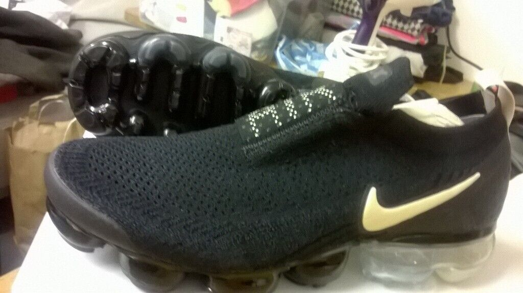 info for 1cddc 19c80 Nike Air VaporMax FK Moc 2 Black Womens Trainers   Size UK 6.5