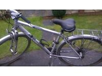 Raleigh 8000i ALUMINIUM 21 speed gel seat