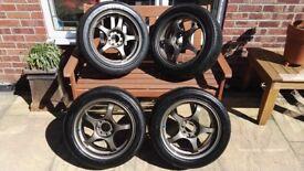 A-TECH Monoblock Final Speed Alloy Wheels. 15' x 6.5 4x100 Lightweight track wheel. Toyota VW Honda