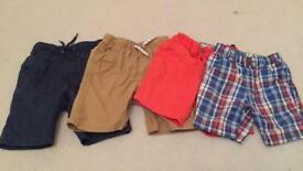Boys shorts age 4-5 x 4 pairs