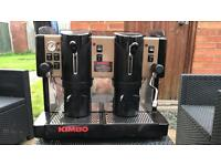 Kimbo industrial barista pod coffee machine