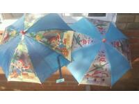 Kids Disney Umbrellas Jake and the Neverland pirates and Planes BNWT